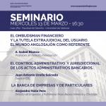 Seminario del II Curso European Banking Law: 13 de marzo de 2019